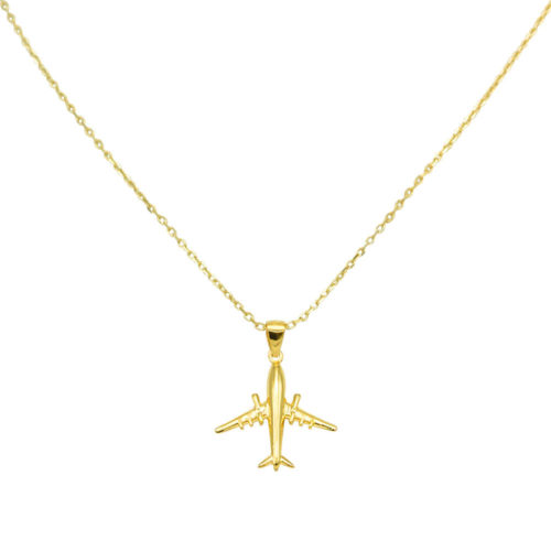 #AIRLINER NECKLACE GOLD
