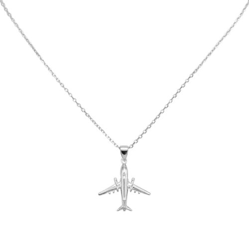 #AIRLINER NECKLACE SILVER