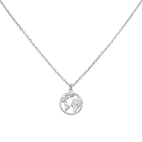 #GLOBE NECKLACE SILVER