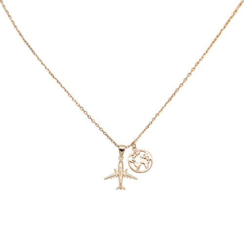 #TRAVELTHEWORLD NECKLACE ROSE GOLD