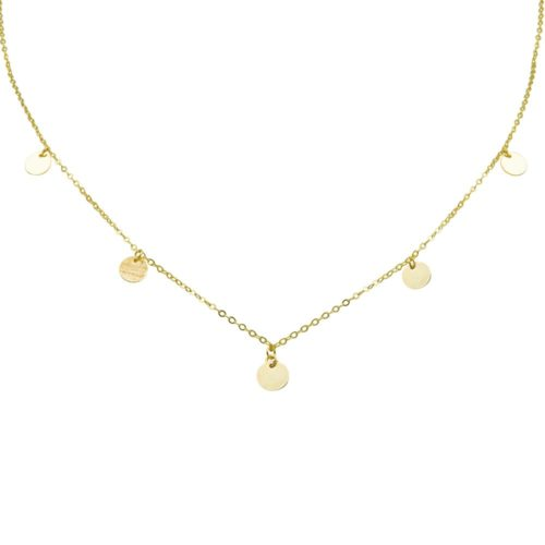#BUCKETLIST NECKLACE GOLD