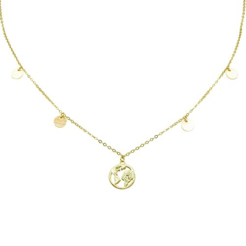 #GLOBETROTTER NECKLACE GOLD