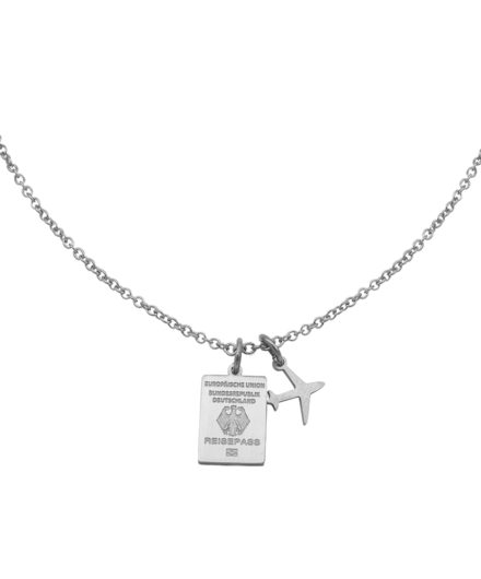 #GERMANY PASSPORT NECKLACE SILVER