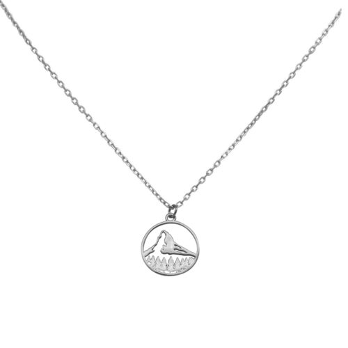 #MATTERHORN NECKLACE SILVER
