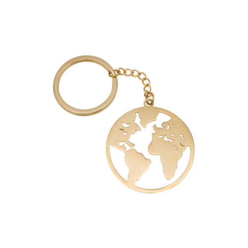 #GLOBE KEYCHAIN ROSE GOLD