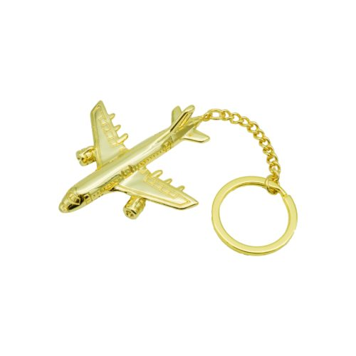 #AIRLINER KEYCHAIN GOLD